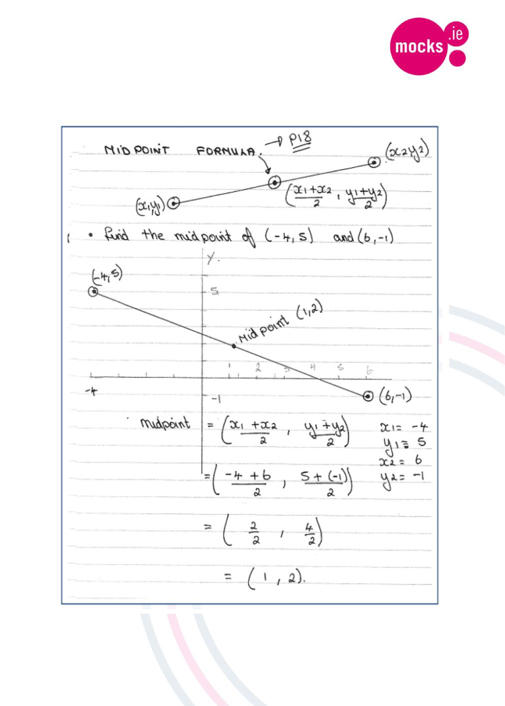 Geometry 1 Revision eNotes Distance Formula, Midpoint