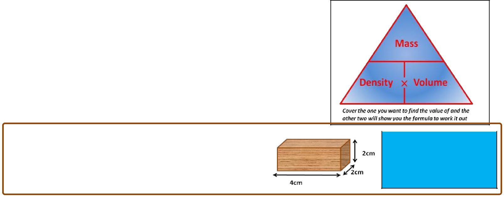 Density the mass per unit volume - Notes - Science - Junior