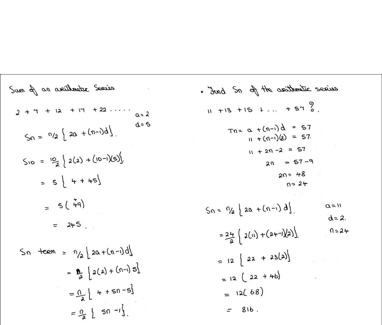 Advanced Calculus 3 Revision eNotes Sequences & Series