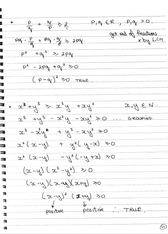 Algebra 5 eNotes - Abstract Inequalities & Sample Exam Questions