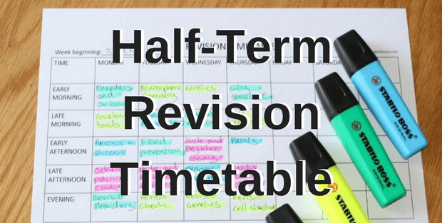 Half-Term Revision Timetable. GCSE A-Level mock Exams
